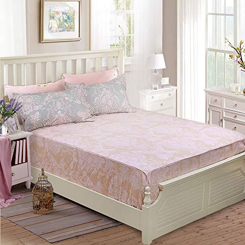 Brandream Full Size Sheets Cotton Set Farmhouse Bedding Sets Damask Sheets Set Blush Pink Bed Sheet Set Deep Pockets 18 Inch 0 0