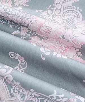 Brandream Full Size Sheets Cotton Set Farmhouse Bedding Sets Damask Sheets Set Blush Pink Bed Sheet Set Deep Pockets 18 Inch 0 2 300x360