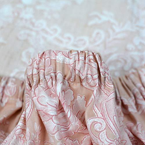 Brandream Full Size Sheets Cotton Set Farmhouse Bedding Sets Damask Sheets Set Blush Pink Bed Sheet Set Deep Pockets 18 Inch 0 5
