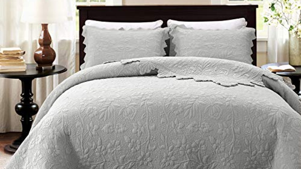 Brandream Luxury Farmhouse Bedding Set Grey Quilt Set Queen Size 100 Cotton Quilted Bedspread Coverlet Set 90 X 96 Farmhouse Goals