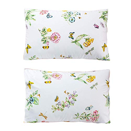 Butterfly Floral Printed Farmhouse Style Twin Size Bed Sheet Set 4Pcs 800 Thread Count 100 Egyptian Cotton Deep Pocket Bedding Set 0 3
