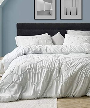 Byourbed Textured Waves King Comforter Supersoft Farmhouse White 0 300x360