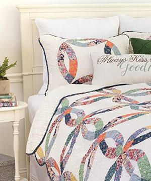 CF Home 821132TSET Heritage Wedding Ring Twin 2Piece Cotton Quilt SetMulticolorTwin 0 0 300x360