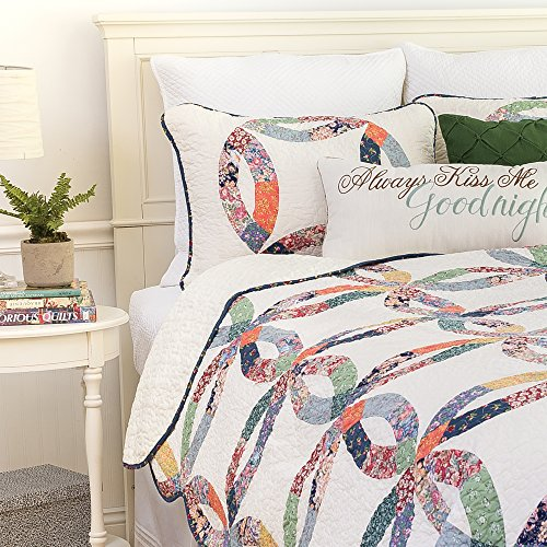 CF Home 821132TSET Heritage Wedding Ring Twin 2Piece Cotton Quilt SetMulticolorTwin 0 0