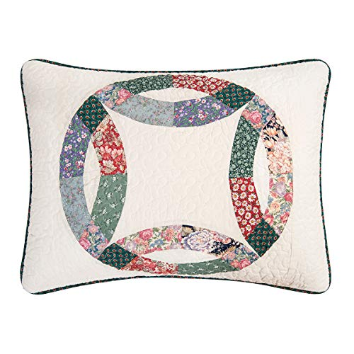 CF Home 821132TSET Heritage Wedding Ring Twin 2Piece Cotton Quilt SetMulticolorTwin 0 3