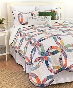 CF Home 821132TSET Heritage Wedding Ring Twin 2Piece Cotton Quilt SetMulticolorTwin 0 300x360