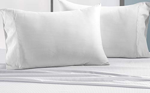 CHATEAU HOME COLLECTION 500 Thread Count Queen White Sheets Luxury 100 Cotton Ultra Soft 4 Piece Sheet Set Long Staple Combed Pure Natural Cotton Bedsheets Soft Silky Sateen WeaveDeep Pocket 0 0