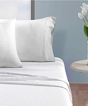 CHATEAU HOME COLLECTION 500 Thread Count Queen White Sheets Luxury 100 Cotton Ultra Soft 4 Piece Sheet Set Long Staple Combed Pure Natural Cotton Bedsheets Soft Silky Sateen WeaveDeep Pocket 0 2 300x360