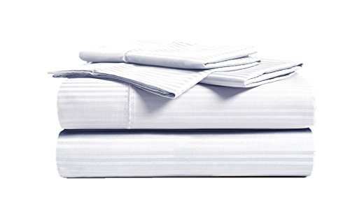 CHATEAU HOME COLLECTION 500 Thread Count Queen White Sheets Luxury 100 Cotton Ultra Soft 4 Piece Sheet Set Long Staple Combed Pure Natural Cotton Bedsheets Soft Silky Sateen WeaveDeep Pocket 0