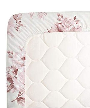 Carousel Designs Rose Farmhouse Floral Crib Sheet Organic 100 Cotton Fitted Crib Sheet Made In The USA 0 2 300x360