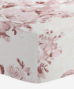 Carousel Designs Rose Farmhouse Floral Crib Sheet Organic 100 Cotton Fitted Crib Sheet Made In The USA 0 300x360