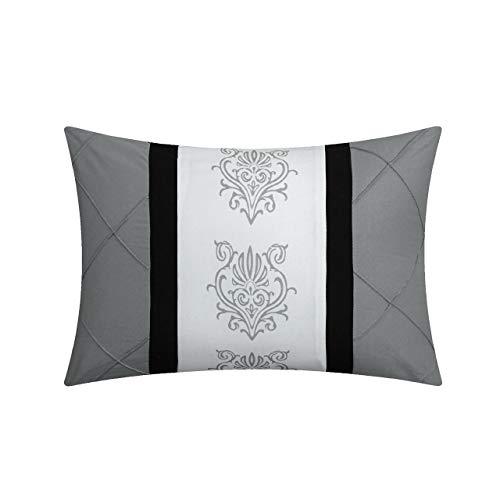 Chic Home Clayton 10 Piece Comforter Set King Grey 0 3