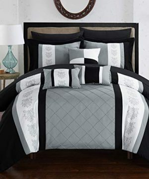 Chic Home Clayton 10 Piece Comforter Set King Grey 0 300x360