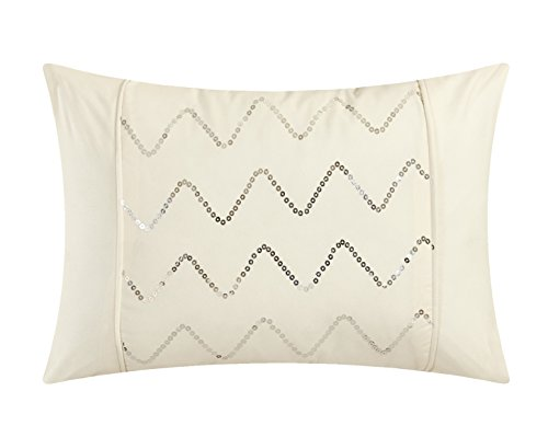 Chic Home Daya 4 Piece Duvet Cover Set Ruffled Pinch Pleat Design Embellished Zipper Closure Bedding Queen Beige 0 4