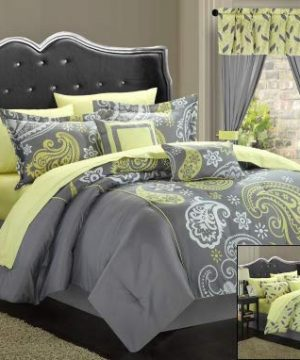 Chic Home Olivia 20 Piece Comforter Set Queen Grey 0 300x360
