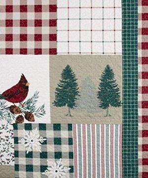 Christmas Farmhouse Patchwork Holidays Reindeer 100 Cotton King Quilt Shams Homemade Wax Melts 0 1 300x360