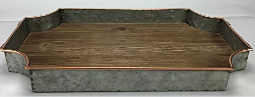 Circleware 02978 Cooperstown Wooden Craftsman Rectangle Serving Tray With Handles Kitchen Multi Purpose Serveware For Coffee Table Dinner Breakfast Food Farmhouse Decor 175 X 11 X 2 Home 0