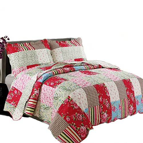 Coast To Coast Living Quilt Sets Luxurious 3pc Bedspreads Cotton Rich Soft Berkshires King 0