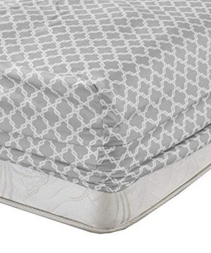 Comfort Spaces Coolmax Moisture Wicking 3 Piece Set Geometric Pattern Smart Bed Cooling Sheets For Night Sweats Twin Charcoal Print 0 2 300x360