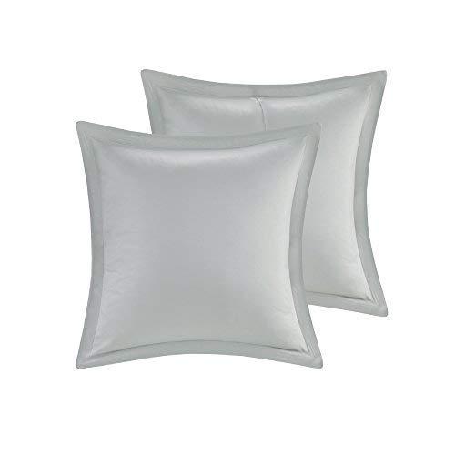 Comfort Spaces Kashmir 8 Piece Comforter Set Hypoallergenic Microfiber Lightweight All Season Paisley Print Bedding King Soft Blue 0 4
