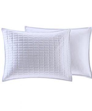 Comfort Spaces Kienna 2 Piece Quilt Coverlet Bedspread Ultra Soft Hypoallergenic Microfiber Stitched Bedding Set TwinTwin XL White 0 3 300x360