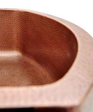 Coppersmith Creations 33 Inch Copper Kitchen Sink D Shape Hammered Front Apron Discounted Price For Limited Time 0 2 300x360