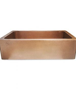Coppersmith Creations 33 Inch Farmhouse Front Apron Copper Kitchen Sink Single Bowl Hand Hammered Antique Finish Best Quality Best Price 0 0 300x360
