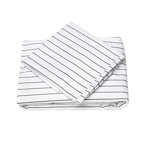 Cosy-House-Collection-Pinstripe-Bed-Sheet-Set-Super-Soft-Luxury-Hotel-Sheets-Hypoallergenic-Bedding-Stain-Fade-Wrinkle-Resistant-4-Piece-Fitted-Flat-2-Pillowcases-King-Grey-0-0