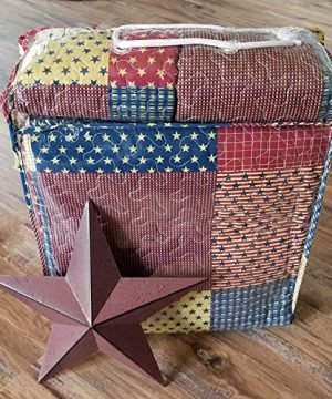 Country Home Collection Vintage Americana Primitive Patchwork Charm 3pc King Size Quilt Set Metal BARN Star 0 0 300x360