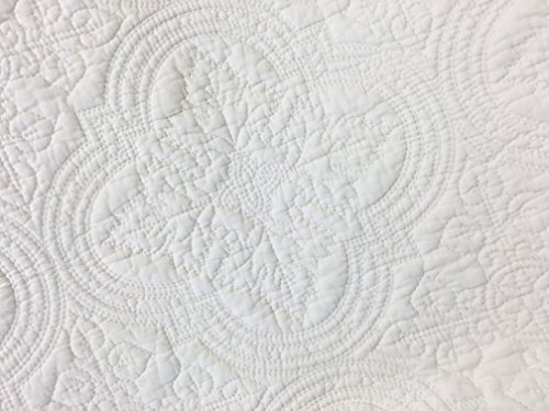 Cozy Line Home Fashions Victorian Medallion Solid Ivory Matelasse Embossed 100 Cotton Bedding Quilt SetCoverletfor BedroomGuest Room Blantyre Ivory Queen 3 Piece 0 1