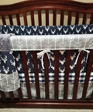DBC Baby Bedding Co Rustic 3 PC Boy Crib Bedding Set Skirt Sheet Blanket 0 300x360