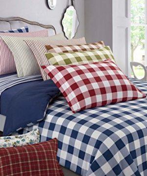 DELANNA Flannel Sheet Set 100 Cotton Queen Buffalo Check Brown 0 0 300x360