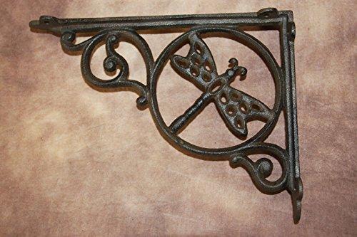 DIY Farmhouse Kitchen Open Shelving Wall Shelf Brackets Dragonfly Design Cast Iron 8 78 Set Of 4 0 3