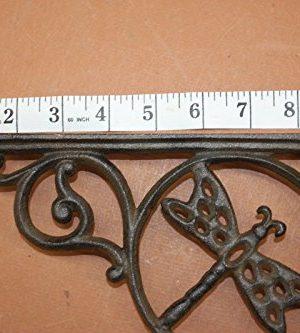 DIY Farmhouse Kitchen Open Shelving Wall Shelf Brackets Dragonfly Design Cast Iron 8 78 Set Of 4 0 4 300x333