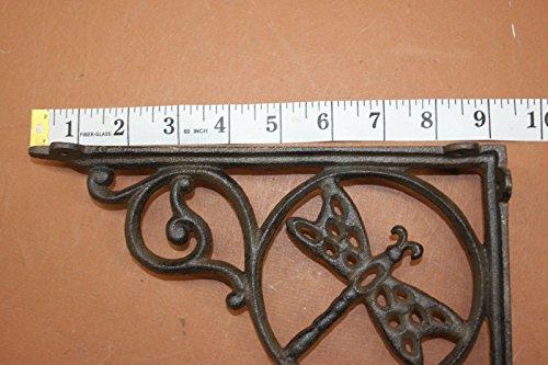 DIY Farmhouse Kitchen Open Shelving Wall Shelf Brackets Dragonfly Design Cast Iron 8 78 Set Of 4 0 4