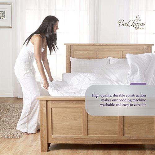 Danjor Linens 6 Piece Hotel Luxury Soft 1800 Series Premium Bed Sheets Set Deep Pockets Hypoallergenic Wrinkle Fade Resistant Bedding SetQueen White 0 3