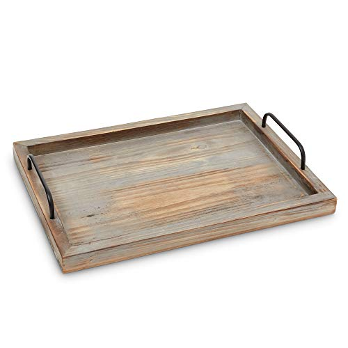 Decorative Ottoman Serving Tray KitchenCoffee TableHome DecorBreakfast Trays Wooden Server Platter Rustic Country Platters Wood Server Farmhouse Decor Kitchen Decor Wood Platter 0 0