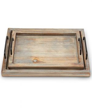 Decorative Ottoman Serving Tray KitchenCoffee TableHome DecorBreakfast Trays Wooden Server Platter Rustic Country Platters Wood Server Farmhouse Decor Kitchen Decor Wood Platter 0 1 300x360