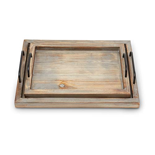Decorative Ottoman Serving Tray KitchenCoffee TableHome DecorBreakfast Trays Wooden Server Platter Rustic Country Platters Wood Server Farmhouse Decor Kitchen Decor Wood Platter 0 1