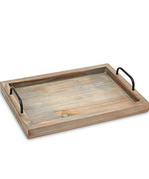 Decorative Ottoman Serving Tray KitchenCoffee TableHome DecorBreakfast Trays Wooden Server Platter Rustic Country Platters Wood Server Farmhouse Decor Kitchen Decor Wood Platter 0 2 300x360