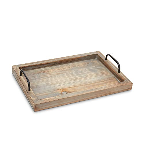 Decorative Ottoman Serving Tray KitchenCoffee TableHome DecorBreakfast Trays Wooden Server Platter Rustic Country Platters Wood Server Farmhouse Decor Kitchen Decor Wood Platter 0 2