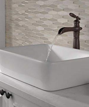 Delta Faucet Victorian Single Handle Waterfall Vessel Bathroom Faucet For Vessel Sinks Venetian Bronze 754LF RB 0 0 300x360
