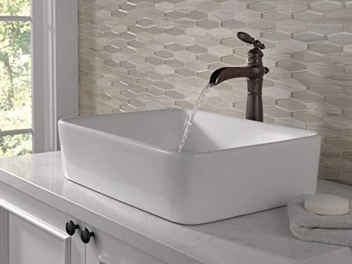 Delta Faucet Victorian Single Handle Waterfall Vessel Bathroom Faucet For Vessel Sinks Venetian Bronze 754LF RB 0 0