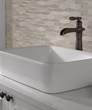 Delta Faucet Victorian Single Handle Waterfall Vessel Bathroom Faucet For Vessel Sinks Venetian Bronze 754LF RB 0 2 300x360