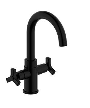 Derengge F 0081 MT Two Handle Single Hole Bathroom Sink Faucet Without Pop Up Drain Matte Black 0 300x360