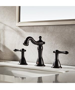 ENZO RODI Bathroom Faucet Classical Style Two Handle Widespread Bathroom Sink Faucet With Lift Pop Up Drain Assembly Oil Rubbed Bronze Certified By UPCAB 1953 Lead Free NSF Standrard ERF2311344H 0 0 300x360