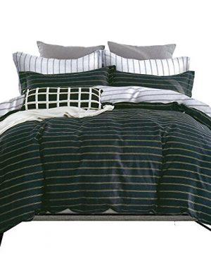 ESSINA FullQueen Duvet Cover Set 3pc Valencia Collection Cotton 620 Thread Count Reversible Duvet Cover Pillow Sham Niagara 0 0 300x360