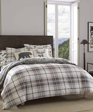 Eddie Bauer Alder Plaid Duvet Cover Set King Charcoal 0 300x360