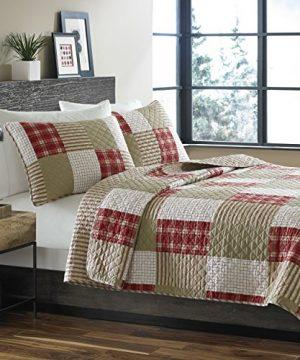 Eddie Bauer Cotton Quilt Set King Red 0 300x360
