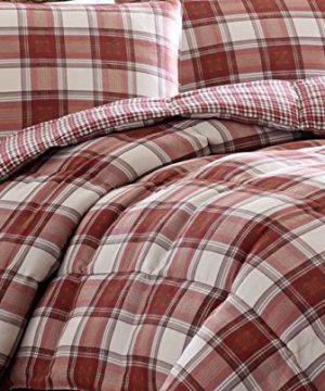 Eddie Bauer Edgewood Plaid Down Alternative Reversible Comforter Set King Red 0 2 300x360